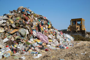 the type of waste in most landfills is